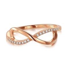 【新品】克徕帝-18K玫瑰金钻石戒指