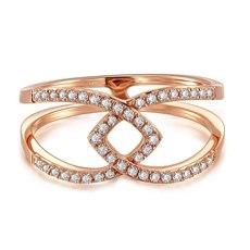 【新品】克徕帝- 18K玫瑰金钻石戒指