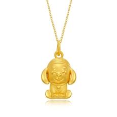 【财神狗】-黄金吊坠