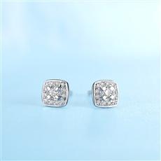 【新品】-钻石耳钉E0229
