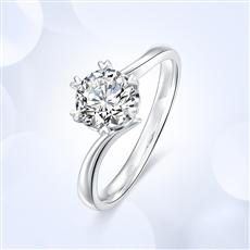 心花怒放 18K金钻石戒指【红宝款】