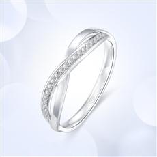 18K金钻石戒指  G0821B