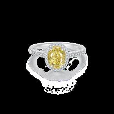 Artcut 系列-彩钻铂金钻石戒指